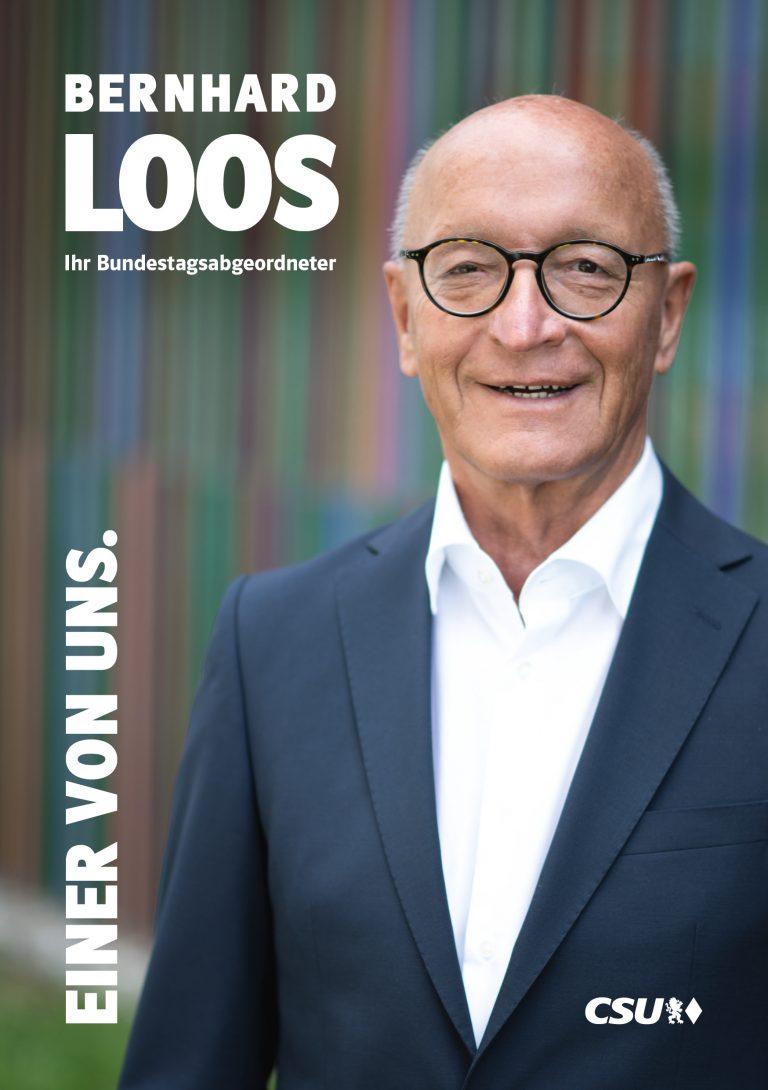 Bernhard Loos - Titelseite Broschüre zur Bundestagswahl
